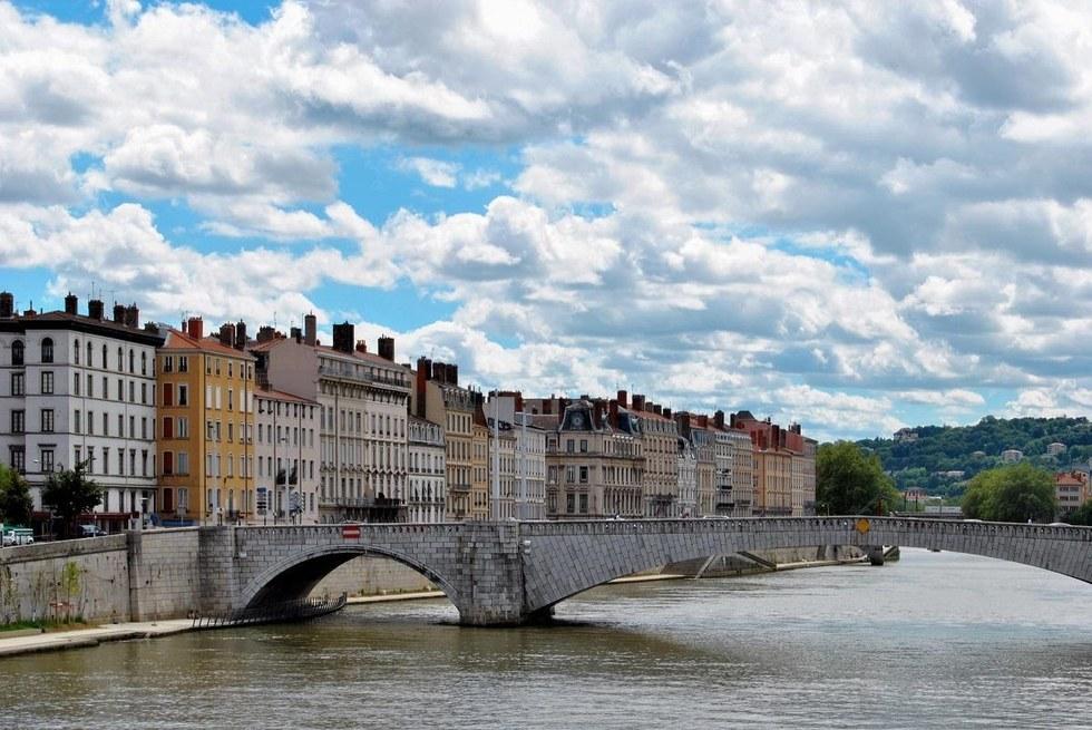 River Saone in Lyon, France