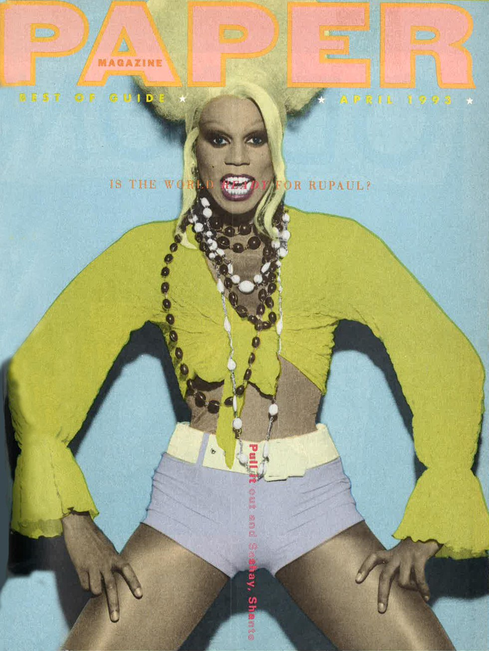 from the archive rupaul s first paper cover paper