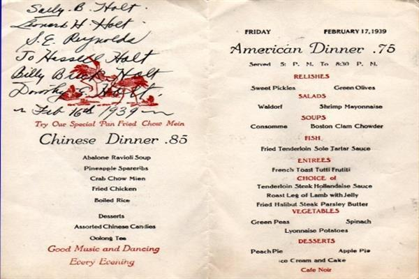TBT: Vintage Restaurant Menus Reveal San Francisco Foodie