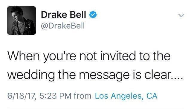 Josh Peck Didnt Invite Drake Bell To His Wedding And Our Hearts