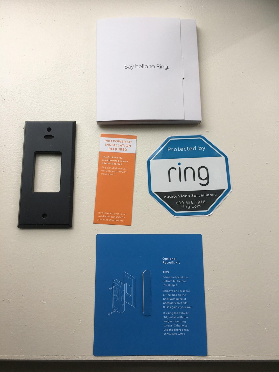 Ring Video Doorbell Pro Comes With Instructions & Retrofit Kit